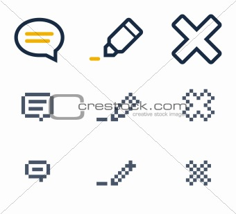 Comment, edit and delete icons