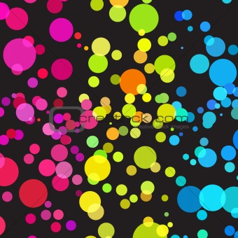 Bright color dots pattern