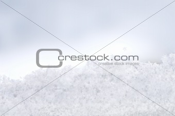 A window covered with snowflakes
