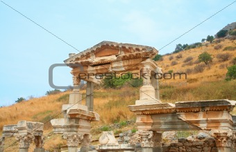 Fountain of Trajan in ancient city of Ephesus