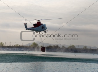 Fire brigade helicopter