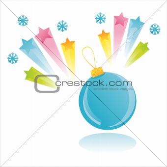 christmas ball with splash