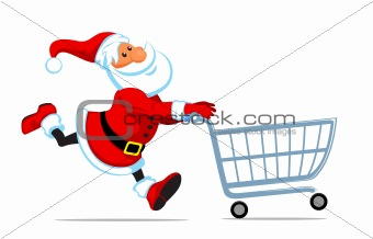 Santa run with shopping cart