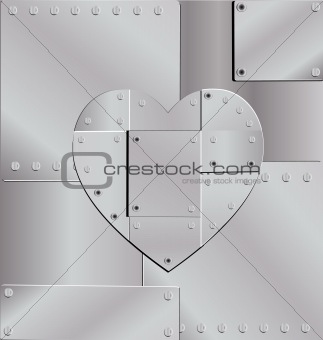 background iron heart