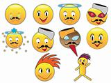 Funny emoticons with different expressions