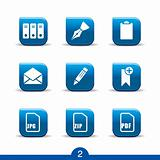 Stationery icons no.2..smooth series