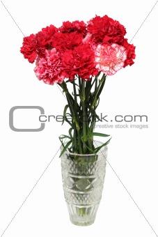 carnation flowers bouquet in vase