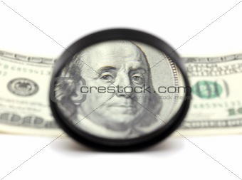 franklin through magnifying glass