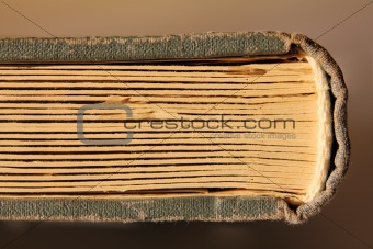 old book with cardboard pages