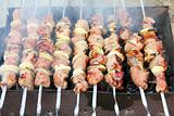 shashlik - cooking barbecue