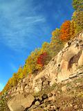 autumn landscape with rock