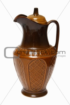 old brown ceramic jug