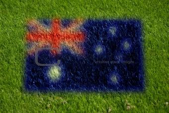 flag of australia on grass