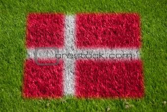 flag of denmark on grass