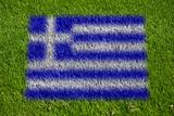 flag of greece on grass
