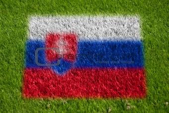 flag of slovakia on grass