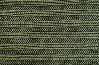 green knitted fabric