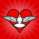 Bird, heart,  background