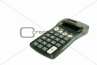 Calculator on white diagonal