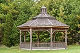 Wooden Gazebo in a Park