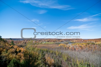 Autumn Landscape with Blue Sky