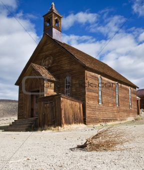 Old  church in Bodie