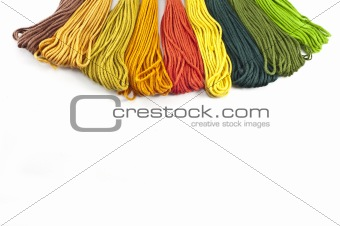 Skeins of colored cotton