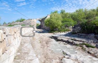 Chufut Kale ancient cave settlement (Crimea, Ukraine).