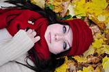 autumn beauty woman