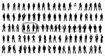 hundred different silhouette  people