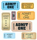 set of ticket admit one vector
