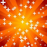 Orange abstract sunny background