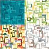 Set of seamless form pattern