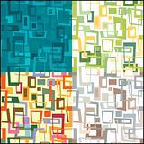 Set of seamless form pattern