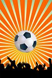 Soccer ball with silhouettes