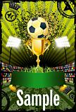 Football poster with copyspace