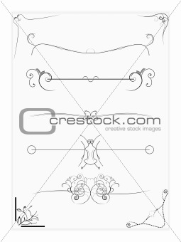 Abstract Vector Design Elements ,Borders ,Frames
