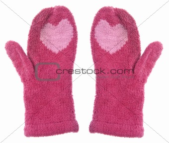 Pair of Mittens with Hearts