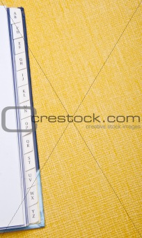 Address Book Border on Vibrant Yellow