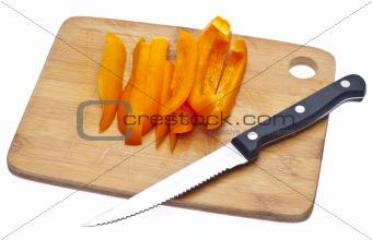 Sliced Orange Bell Pepper