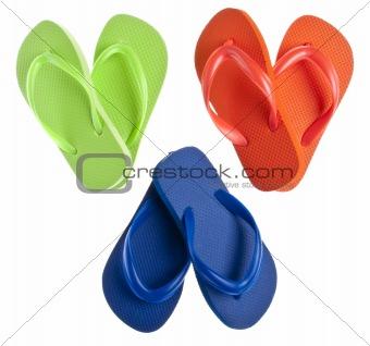 Flip Flop Sandals in Heart Shapes