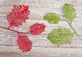 Whimsical Leaf Holiday Background