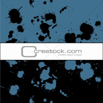 Grunge background with ink spots