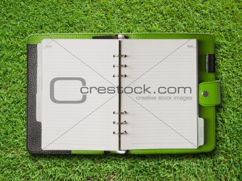 Open Green Cover Binder