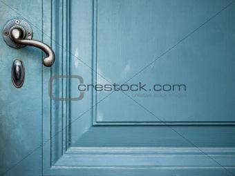 Single Door handle on old door