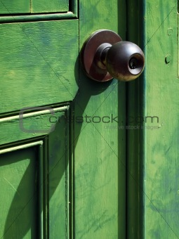 Old iron doorknob