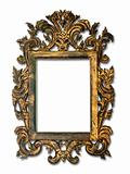 Antique glass frame