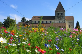 Church in flowers
