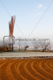 Czech countryside in first frost