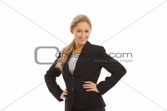 Portrait of young girl in business suit